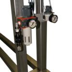 Attacco aria compressa e regolatore di pressione